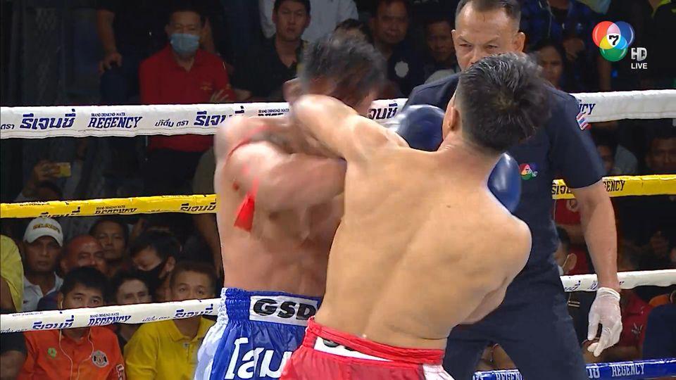 มวยไทย7สี 23 ก.พ.63 เพชรสมุย ลูกเจ้าพ่อโรงต้ม vs ดีเซลเล็ก เอ็มยูเด็น