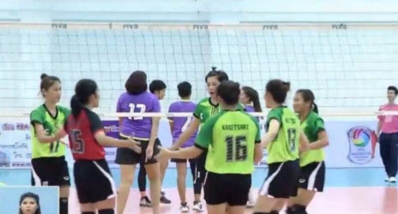 โปรแกรมแข่งขัน วอลเลย์บอลหญิง แชมป์กีฬา 7 สี 2015 รอบ 10 ทีมสุดท้าย