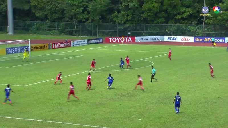 ฟุตบอล U-16 ชิงแชมป์เอเชีย 2018 ไทย 1-2 ทาจิกิสถาน 1/2