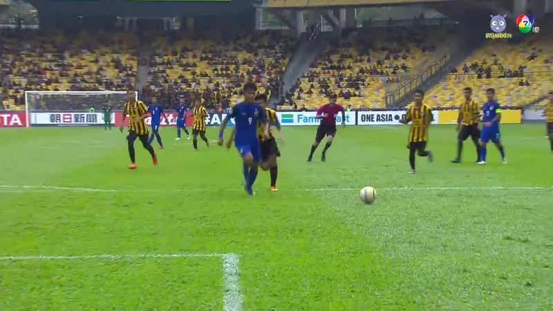 ไฮไลต์ฟุตบอล U-16 ชิงแชมป์เอเชีย 2018 ไทย 4-2 มาเลเซีย
