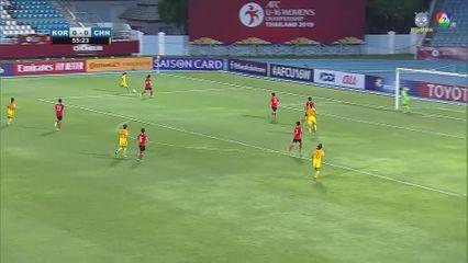 เกาหลีใต้ 0-2 จีน ฟุตบอลหญิง U16 ชิงแชมป์เอเชีย 2019 คลิป 2/2
