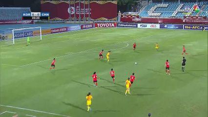 เกาหลีใต้ 0-2 จีน ฟุตบอลหญิง U16 ชิงแชมป์เอเชีย 2019 คลิป 1/2