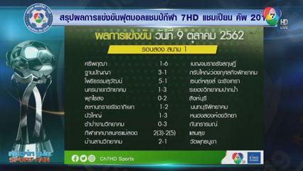 ผลการแข่งขันฟุตบอลแชมป์กีฬา 7HD 2019 รอบคัดเลือก 9 ต.ค.62