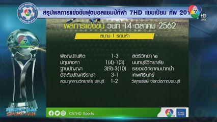 ผลการแข่งขันฟุตบอลแชมป์กีฬา 7HD 2019 รอบคัดเลือก 14 ต.ค.62