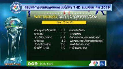 ผลการแข่งขันฟุตบอลแชมป์กีฬา 7HD 2019 รอบคัดเลือก 15 ต.ค.62