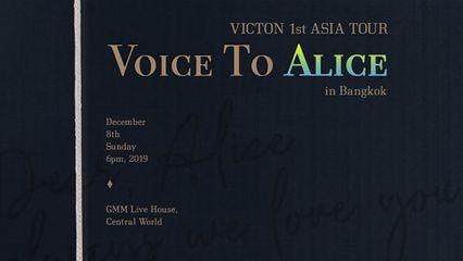 "VICTON พร้อมแจกความฟิน ""อลิซไทย"" ในงานแฟนมีตติ้งเดี่ยวครั้งแรก ""VOICE TO ALICE IN BANGKOK"" 8 ธ.ค.นี้"