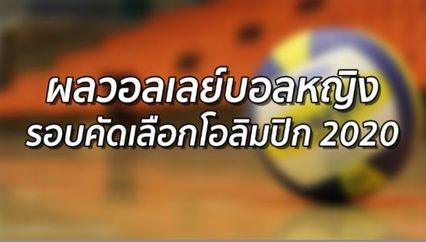 วอลเลย์บอลหญิงไทย เข้ารอบรองฯ คัดเลือก โอลิมปิก 2020