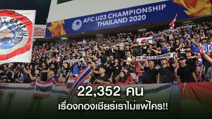 AFC ขอบคุณแฟนบอลไทย! แห่ชมเกมช้างศึก-ออสเตรเลีย ทุบสถิติเดิม U23