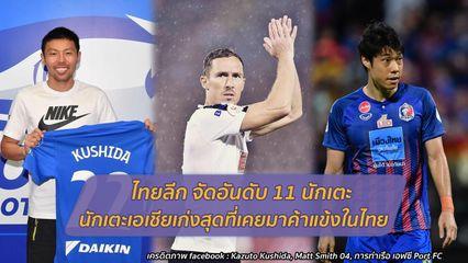 ไทยลีก จัดอันดับ 11 นักเตะเอเชียเก่งที่สุด ที่เคยมาค้าแข้งในไทย