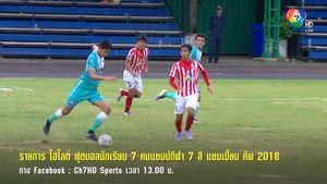 ไฮไลต์รอบสุดท้าย ฟุตบอลแชมป์กีฬา 7 สี พรุ่งนี้ บ่ายโมง FB : Ch7HD Sports