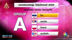 FIVB คลอดโปรแกรมคัดโอลิมปิก รอบแรก ตบสาวไทย ประเดิมดวล เซอร์เบีย